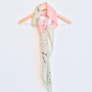 Tahari Silk Cherry Blossom Painted Scarf